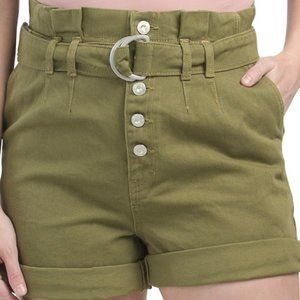 FREE PEOPLE Cindy Utility Shorts Sz 6 NWT
